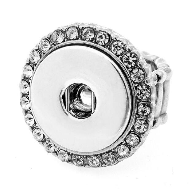 패션 DIY의 18mm NOOSA 다이아몬드 반지 여성 진저 스냅 버튼 링 보석 DIY 덩어리 스냅 버튼 패션 손가락 반지 액세서리