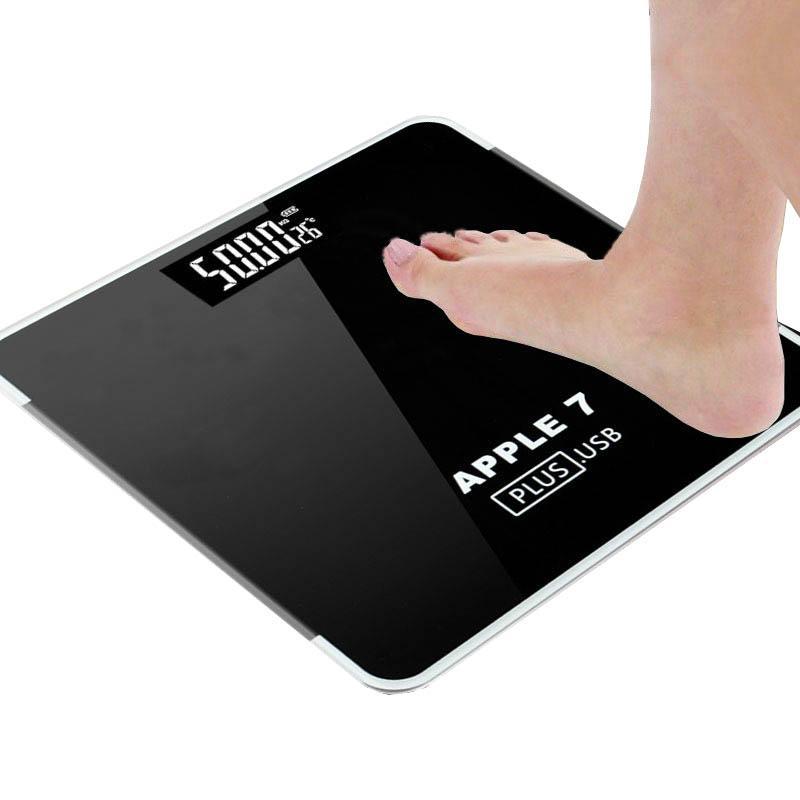 전자 무게 저울 LED 디지털 디스플레이 무게 계량 층 전자 스마트 밸런스 바디 가정용 욕실 180KG