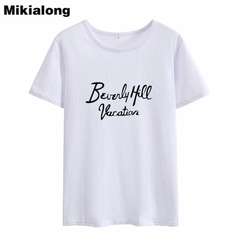 T-shirt donna oln 2018 coreano moda donna stampato t-shirt donna Ulzzang harajuku nero bianco donna t-shirt top t-shirt femme blusas