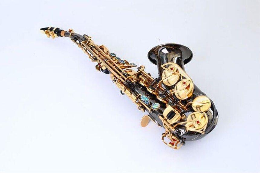 Nouveau YANAGISAWA Courbe Saxophone Soprano S-991 Bb Argenting Laiton Haute Qualité Sax Professionnel Embouchure Patches Pads Anches