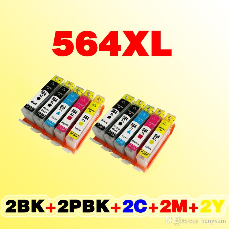 Cartouche d'encre compatible 2set HP564 564XL HP564 compatible avec hp 5510 7510 4610 3070A 6510 4620 avec puce pleine d'encre
