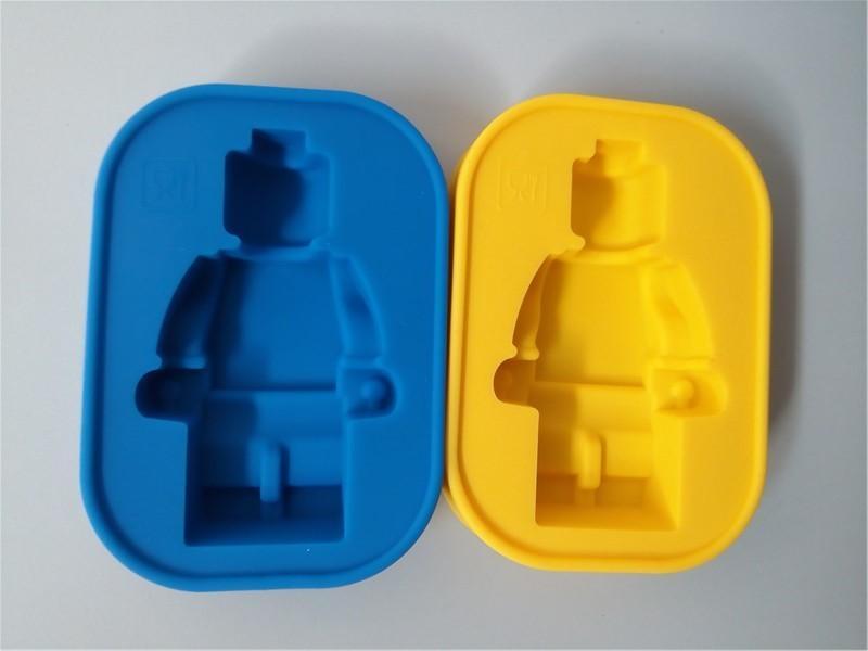Foodgrade سيليكون ليغو العفن سوبر كبير روبوت ليغو كعكة الخبز العفن diy أدوات تزيين الكعكة فندان للمطبخ الطعام بار