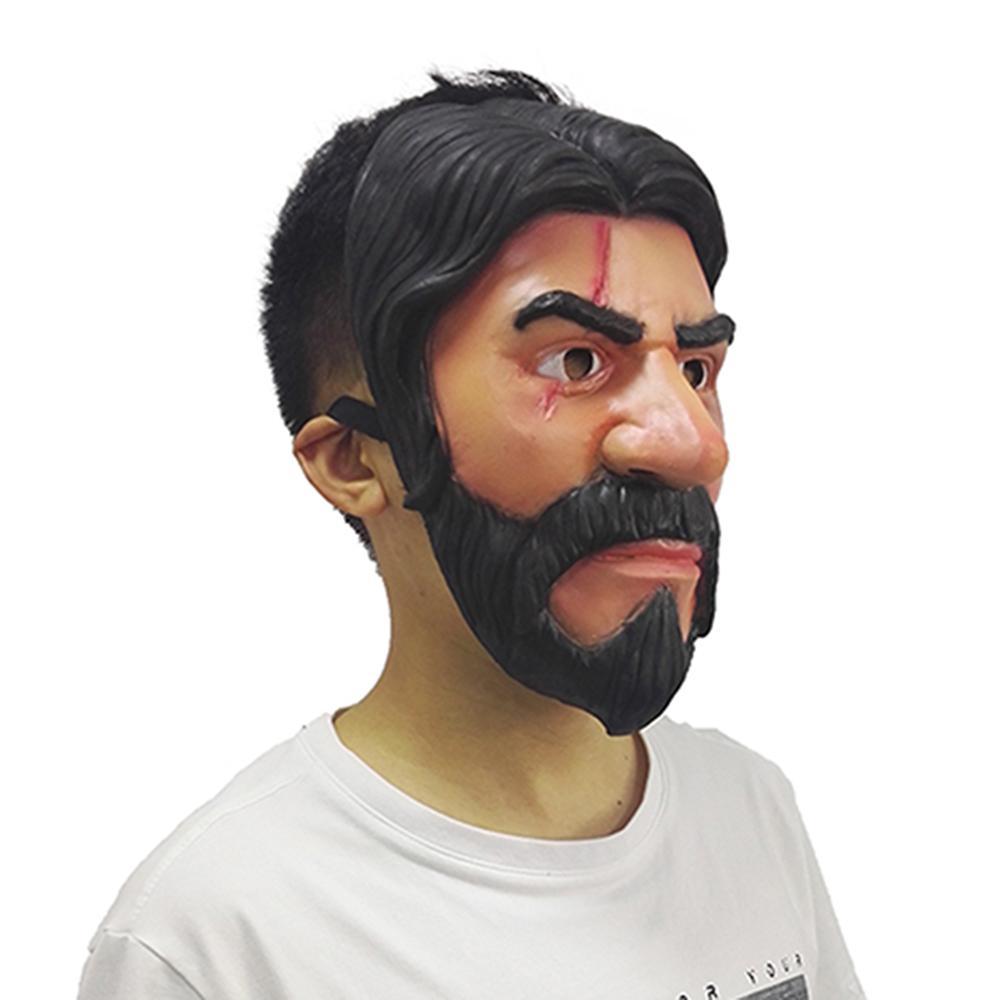 100pcs Wholesale Game Cosplay Cuddle Team Leader Mask John Wick Reaper Mask Halloween Masks Realistic Human Mask