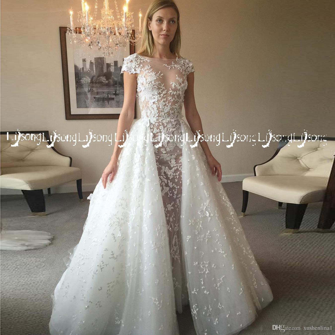 Short Sleeves Bridal Wedding Dress Vestido de Casamento Loong Train A-line Winter Brides Maxi Gowns Gorgeous Formal Party Wear Maxi Dresses