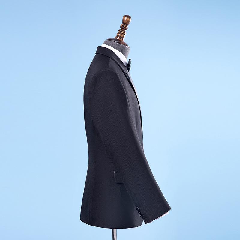 Acquista Giacca Nera Casual Elegante Da Uomo Con Cravatta A Farfalla Tuta Nuziale Groomsman Costumi A Due Pezzi S 2XL Il 2018 A $71.55 Dal Cantury  