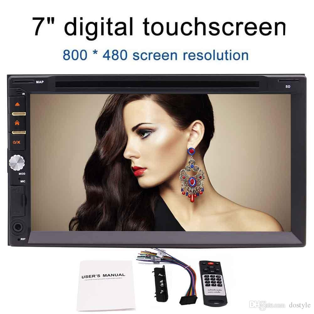 Car DVD CD Player Double Din Car Stereo 7 Inch Full-Touch Screen 800*480 Head Unit Bluetooth Radio In Dash Car Multimedia Player Support