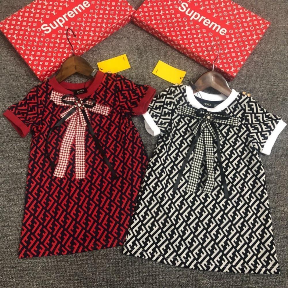 2018 moda infantil vestido de tendencia de la moda de algodón importado lindo generoso