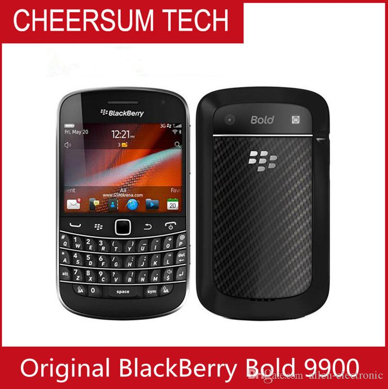 Atacado Desbloqueado Original BlackBerry 9900 Bold Touch Celular Interno 8 GB de Memória 3G Câmera de 5MP Remodelado Smartphone 22 pcs DHL