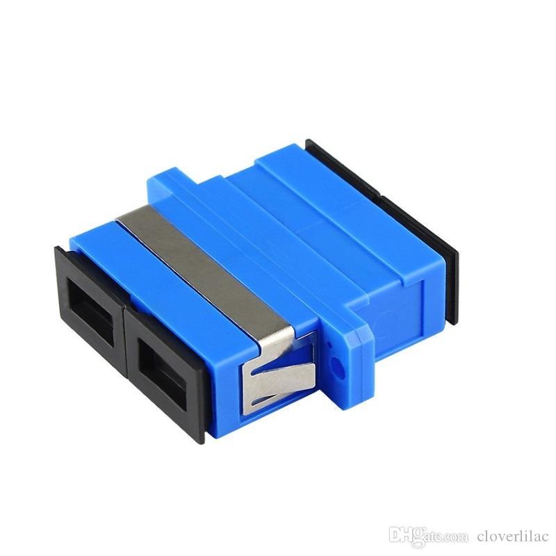 Vente chaude et Bonne qualité Conforme RoHS 20PCS duplex SC adaptateur optique à bride en fibre optique Connecteur optique