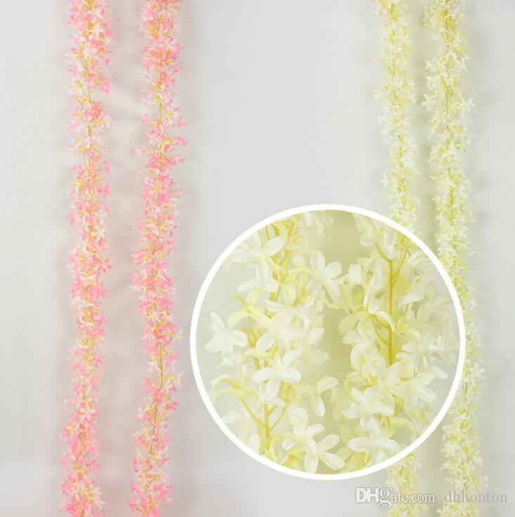 Artificial Flowers Cherry Blossom attificial Lilac flowers Vine beautiful rattan for wedding decotations Encryption flower string AF06