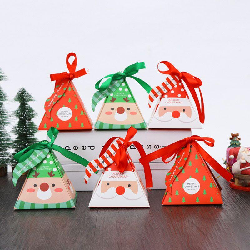 크리스마스 달콤한 사탕 상자 선물 랩 서류 가방 크리스마스 파티 웨딩 트레이 포장 상자와 리본 로프 테이블 장식 DHL HH7-1856