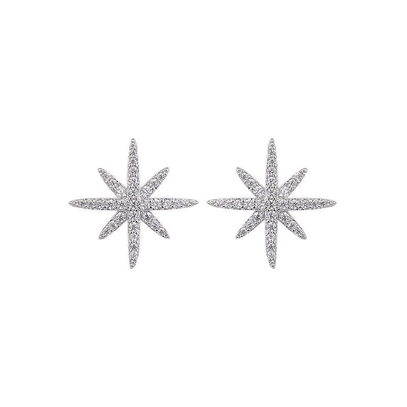 Orecchini di cristallo di zircone di paragrafo di stella di zircone di alta qualità orecchini di nastro gioielli moda GLE4920A