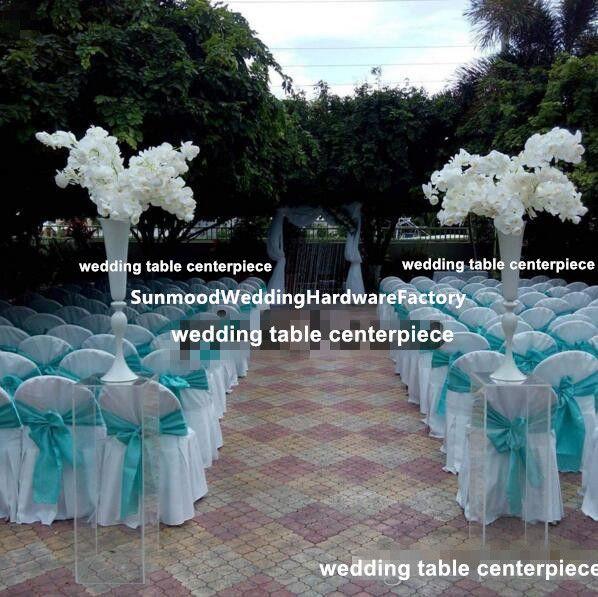 Parlak Altın Düğün Çiçek Vazolar 88 cm Tall Masa Centerpiece Metal Altın Gümüş Beyaz Çiçek Trompet Düğün Ev Dekorasyon için best00023
