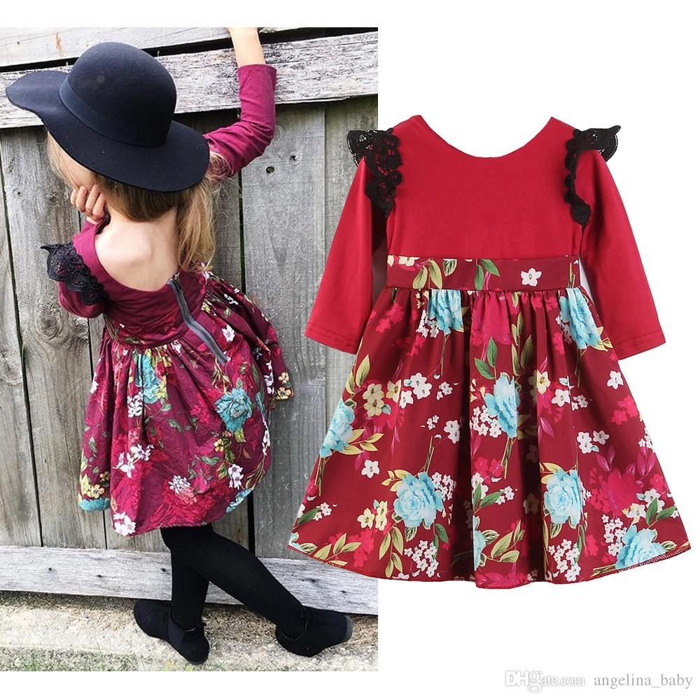Toddler Baby Girls Princess Ruffle Flying Sleeve Romper+Floral Sling Skirt 2pcs