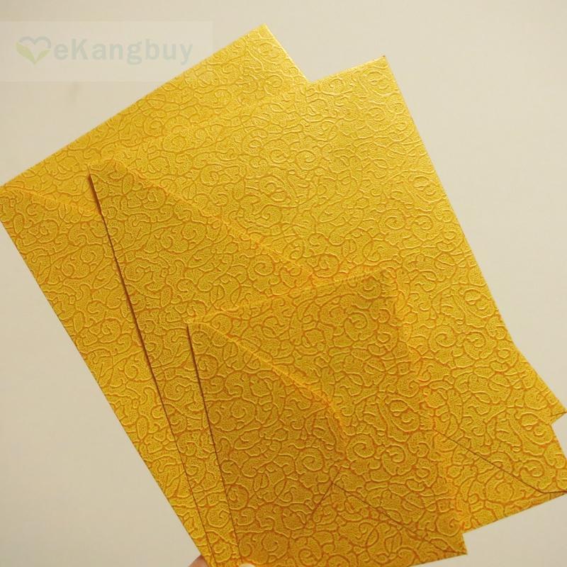 20 hojas-Papel de oro en relieve 100 GSM