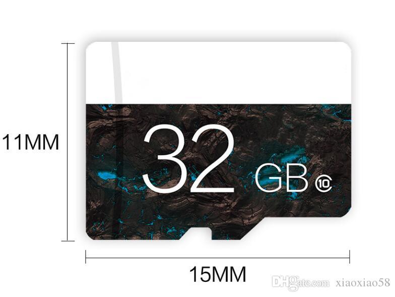 70pcs 100 % 진짜 32GB Class10 마이크로 SD 32GB TF 메모리 카드 32g SD 카드 공식적인 탐지 지원