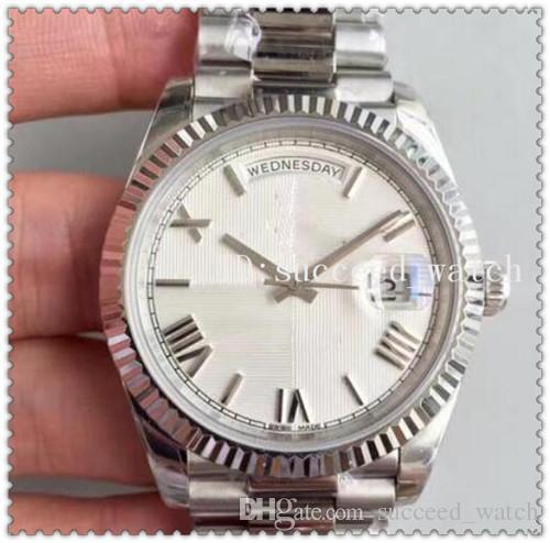14 2018 Классический стиль роскошные Мужские спортивные часы DAYDATE 228206 серии Белый римские цифры циферблат Сапфир 2836 высокое качество механизм часы