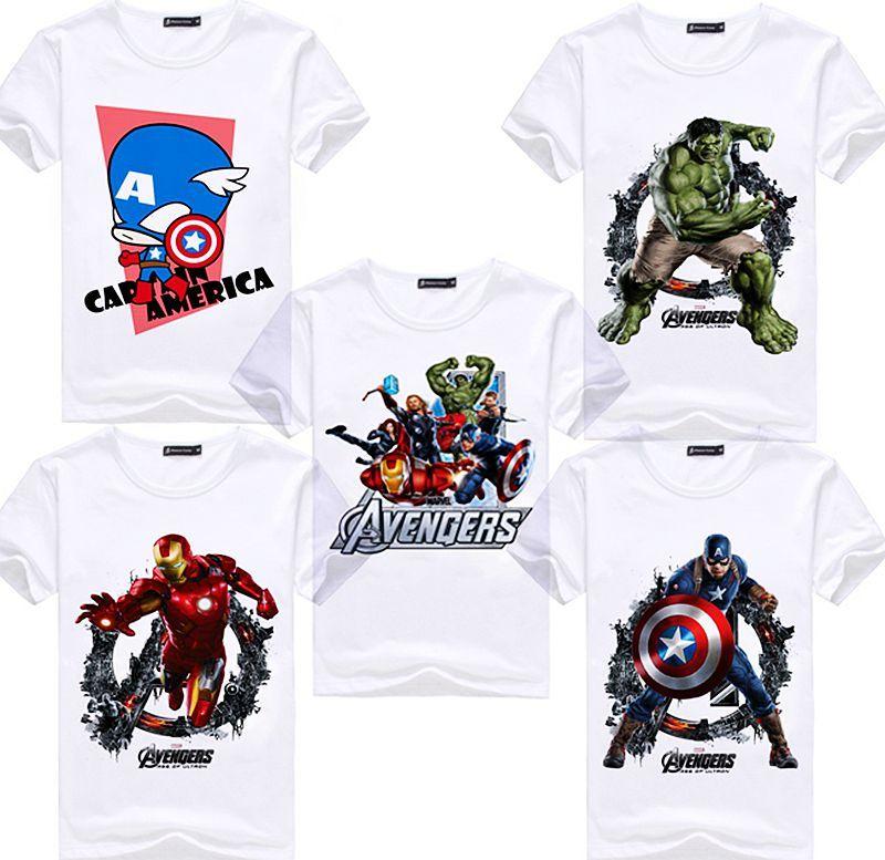 cheap sale 2019 authentic diverse styles Avengers T Shirt Ironman Captain America Iron Men Hawkeye Widow Marvel T  Shirt Super Hero Custom Made 3D Print Gift Tee Movie T Shirts Shirt  Designer ...