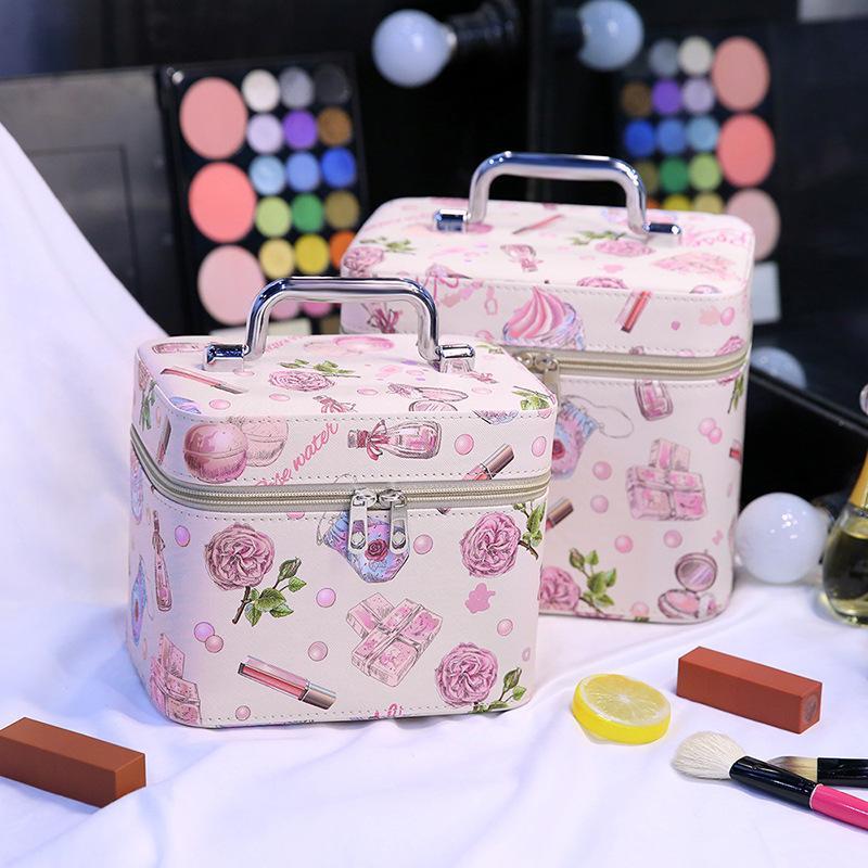 Корейская милая маленькая косметичка для животных 2018 Новая водонепроницаемая искусственная кожа Косметички Большая косметическая сумка для хранения
