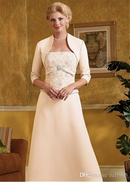 Low profile elegance Short Wedding Winter Jacket Satin Wedding Boleros 3/4 Long Sleeves Bridal Wedding Wraps Bride Capes Custom Made