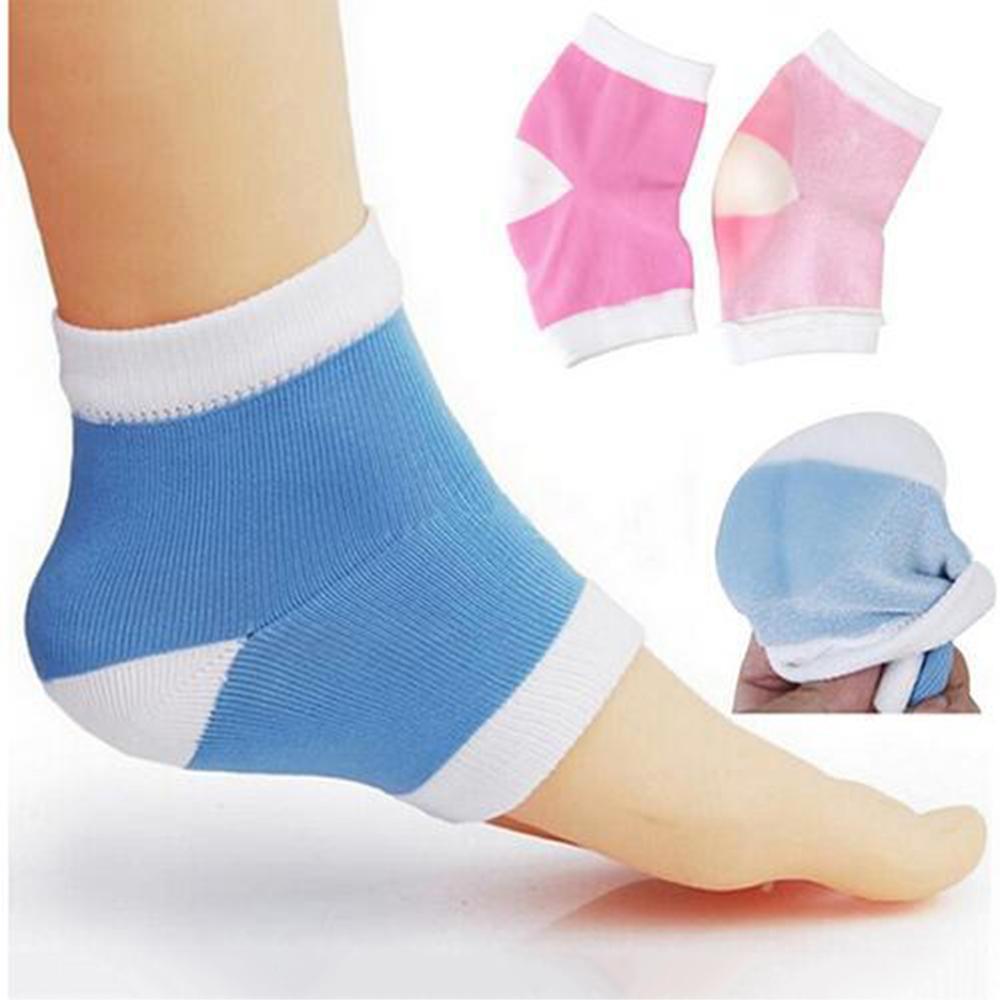2018 Новый силиконовый гель лайнеры для ног пятки носки уход за ногами анти-трещин педов противоскользящие отшелушивающий разрыв ремонт носки