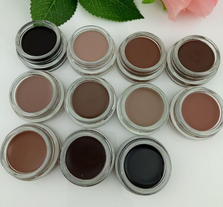 Más reciente ceja impermeable Pomada Mejoradores de cejas Maquillaje 11 colores con un paquete de venta al por menor Suave Medio oscuro Fresno Marrón Chocolate CARAMELO