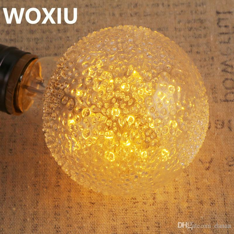 WOXIU Vintage Edison Bombilla 5W Incandescente Bombilla regulable antigua Bombilla regulable para accesorios de iluminación para el hogar Filamento de jaula de ardilla E27 G80 110V
