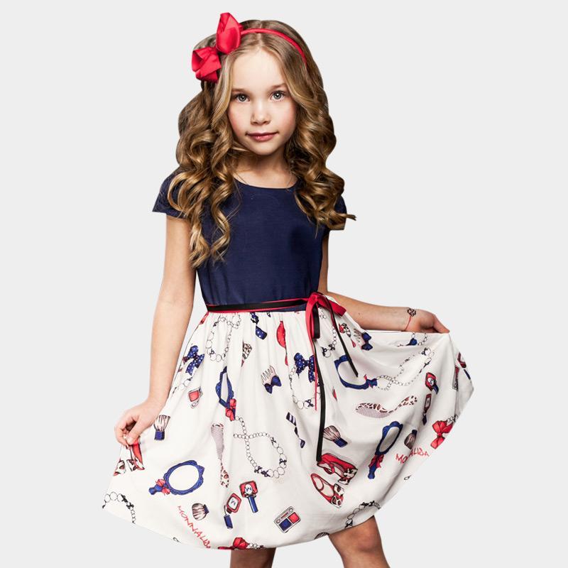 2-8 ans filles robe d'été 2018 robes causales enfants Toddler filles princesse robe pour la fête robes enfants pour les filles
