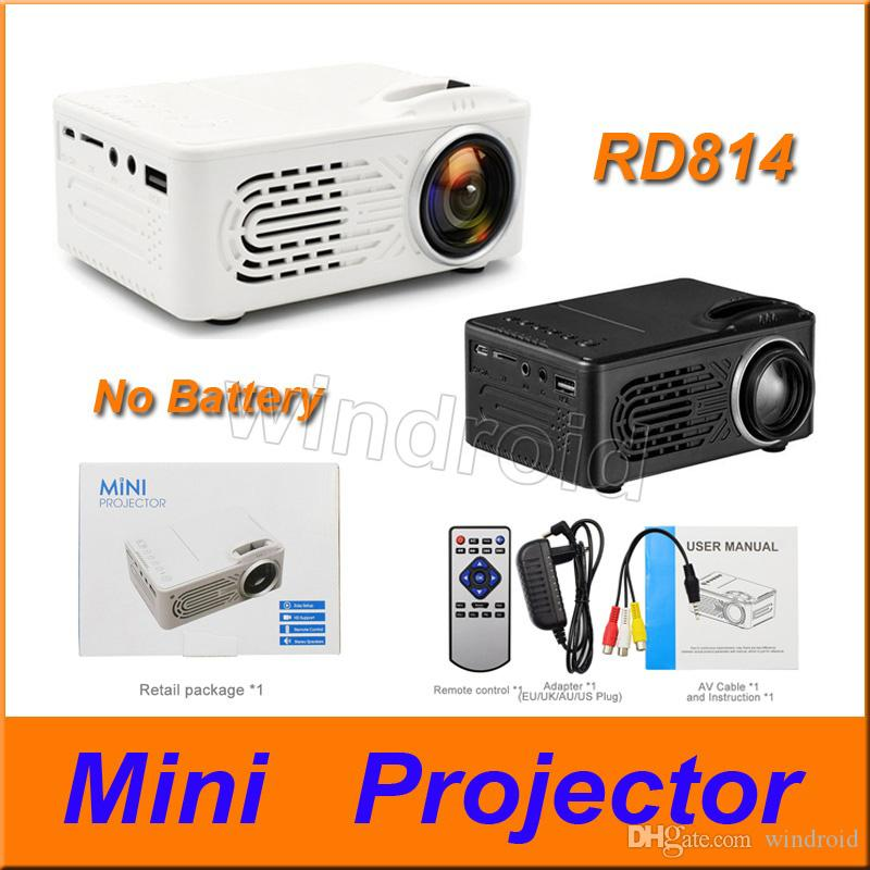 Cheapest Mini Projector RD814 LCD LED Portable pocket Home Theatre Cinema Multimedia Support USB TF Card Kids Child Video Media Player 50pcs