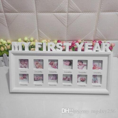 1-12 Month Baby Photo Frame Memorial Growing Picture Frame Display Kids Birthday Gifts Home Room Decor Wall Decorations XY0002