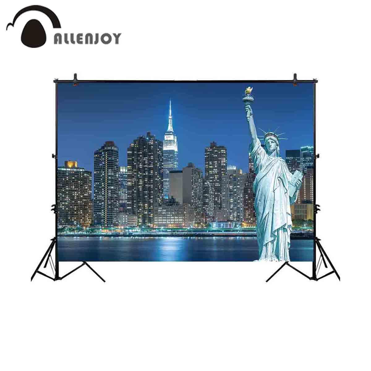 الجملة نيويورك خلفية للصور مدينة ليلة تمثال الحرية خلفية صورة تبادل لاطلاق النار دعامة صورة المتصل النسيج photobooth