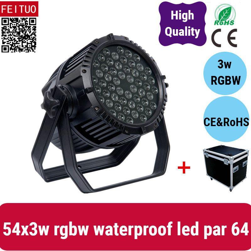 4light + 케이스 IP65 방수 54 * 3w RGBW 파 조명, 디스코, 볼룸, KTV, 바, 클럽, 파티, 결혼식에 대 한 사용