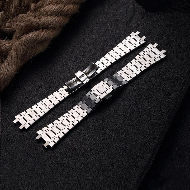 TJP Top 26mm Silber der Männer Voll Edelstahl Uhrenarmband-Bügel-Armband für mit Wort-Haken