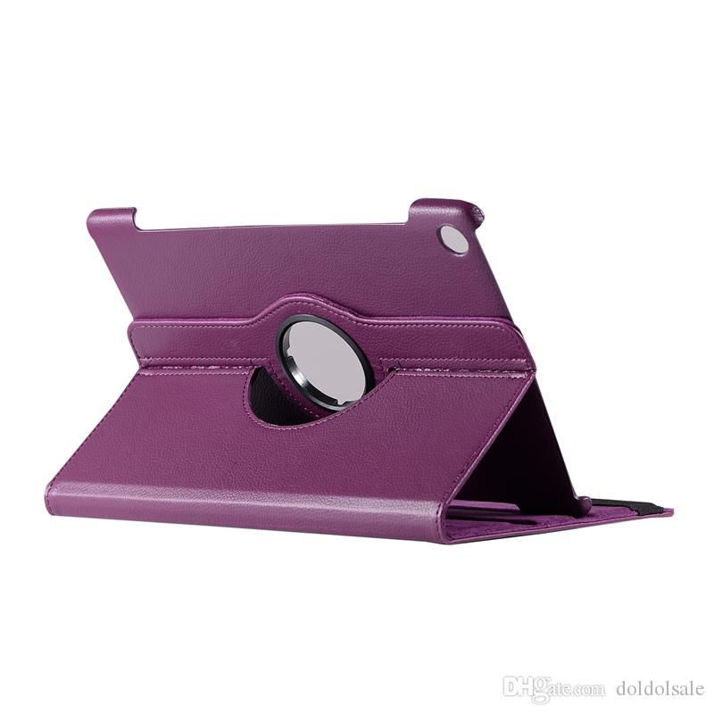 30pcs Rotary 360 Degree Rotating Litchi Flip Stand PU Leather Case For Huawei MediaPad M5 10.8 inch 10 Pro CMR-AL09 CMR-W09 Tablet Cover