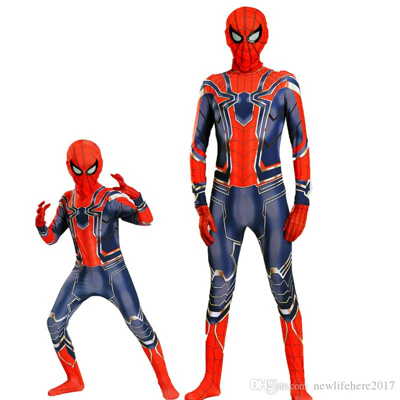 Avengers: Infinity War Iron Spiderman Cosplay Rompers Costume Zentai Iron Spider man Bodysuit Jumpsuits