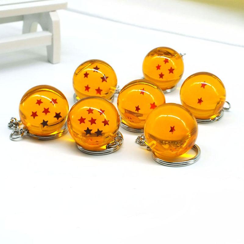 Japanese Cartoons Dragon Ball Z 7 Stars Balls Keychain Figures Toys Key Chain Pendant Car Gifts Accessories