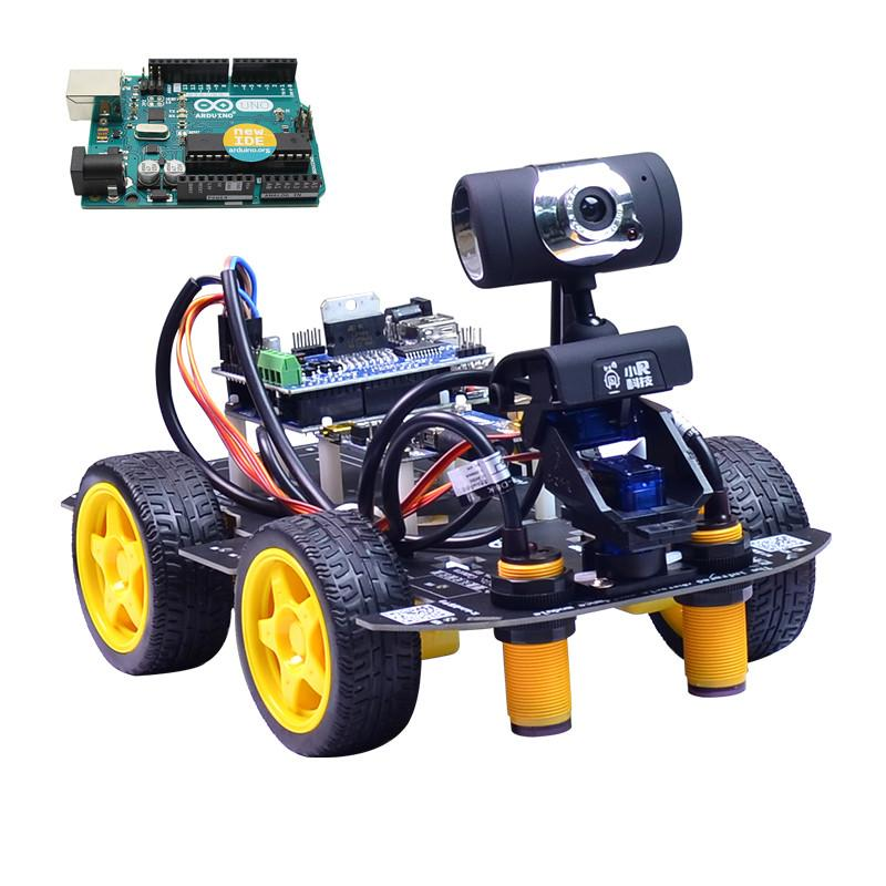 Xiao R Diy Smart Robot Wifi Video Remote Control Car With Camera Gimbal A Rduino Uno R3 Board Mouse Smart Phone Rc Science Model Cars Remote Control