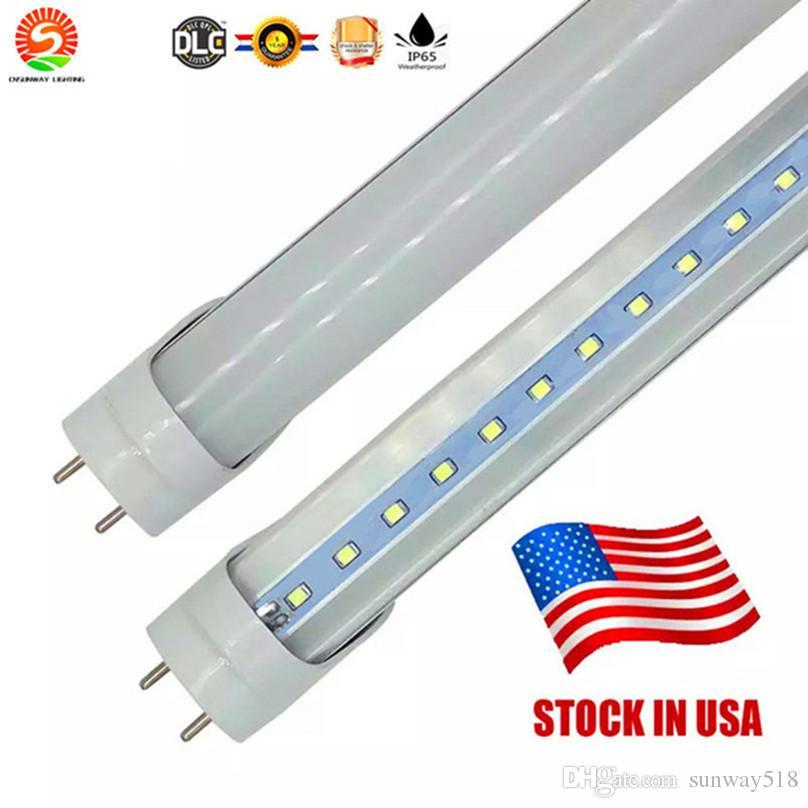 4 фута 22 Вт 3 фута 18 Вт 2 фута 11 Вт T8 Светодиодная лампа 2400lm Светодиодное освещение Люминесцентная лампа 1,2 м 0,9 м трубы + US Stock
