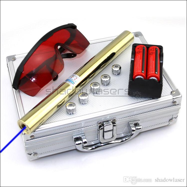 Shadowlasers BX5 ad alta potenza 450nm puntatore laser blu laser torcia a visiera visibile con caccia al torcia elettrica con batterie 2 * 18650 Li