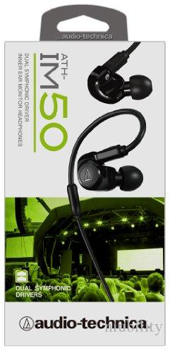 تم تجديد سماعات Audio-Technica ATH-IM50 المزدوجة داخل الأذن مع حزمة البيع بالتجزئة