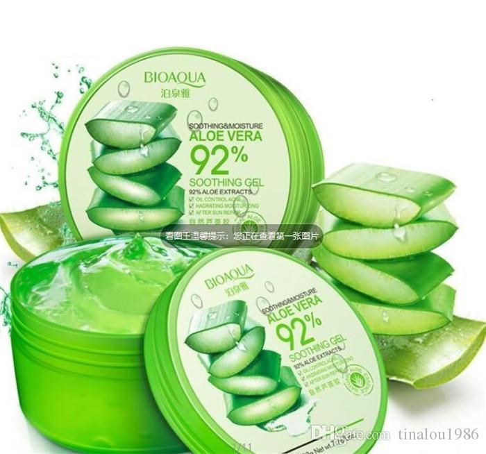 После ремонта Солнца масло BIOAQUA Natural Aloe Vera гладкие антибактериальные успокаивают гель лечение акне крем для лица увлажняющий контроль масла уход за кожей