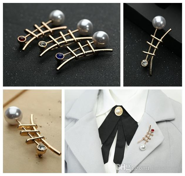 Korean Jewelry Creative Female Skirt Coat Accessories Pearl Rhinestones Fashion Shirt Unisex Brooches Broche Wholesale Drop Shipping