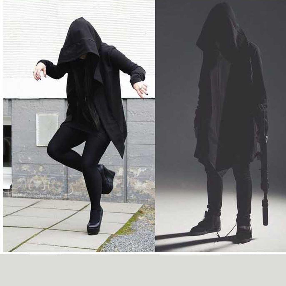 Gothic Männer Hoodies Schwarz Top Langarm Straße Lässige Sweatshirt Mode Plus Größe XS-6XL Hoody Cape