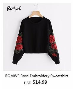 romwe-ROMWE Rose Embroidery Sweatshirt