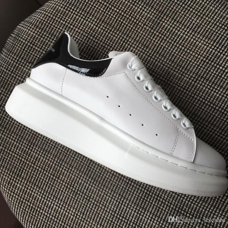 New Mens Womens White Leather With