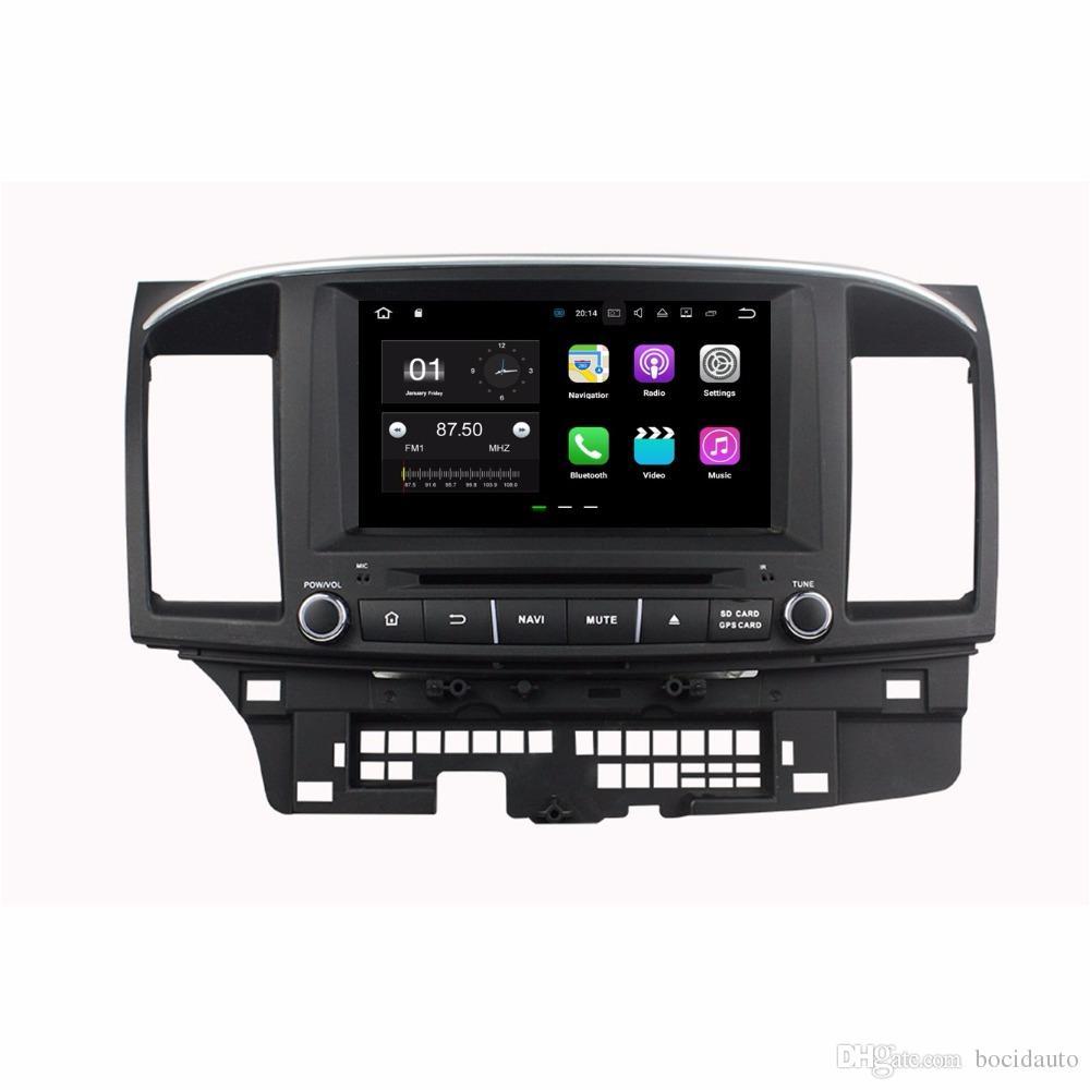 "Quad Core 2 din 8 ""Android 7.1 Car DVD Player for Mitsubishi Lancer 2010-2015 مع 2GB RAM راديو GPS 4G WIFI Bluetooth 16GB ROM"