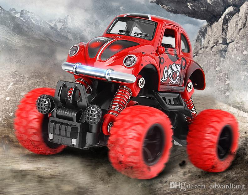 Cartoon Alloy Car Model Toys, Wild Off-road vehicles with Strong Pull-back Power, Kid' Birthday' Party Gifts, Collecting, Home Decoration