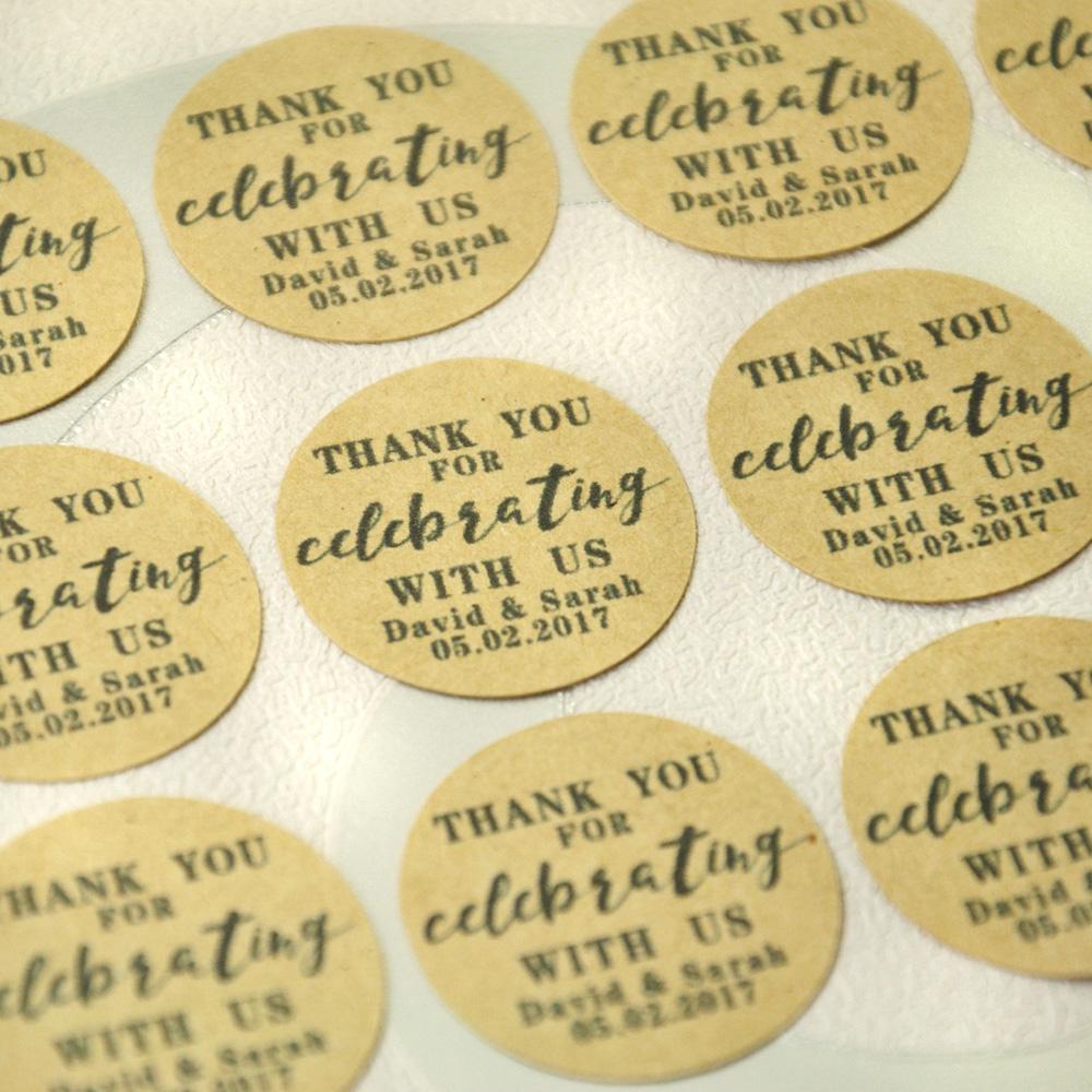 Custom Natural Kraft Paper Wedding Favor Tag Wedding Kraft Tags, Personalized Sticker Envelope Seals, Customized Envelope Labels