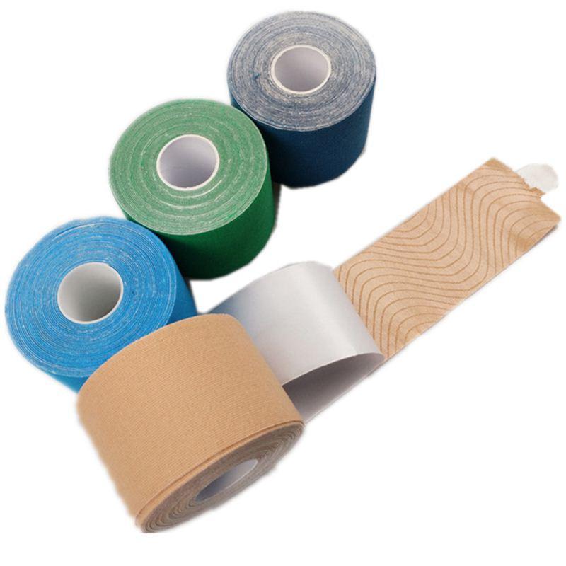 Nastro adesivo kinesio adesivo in cotone elastico impermeabile 5cm * 5m