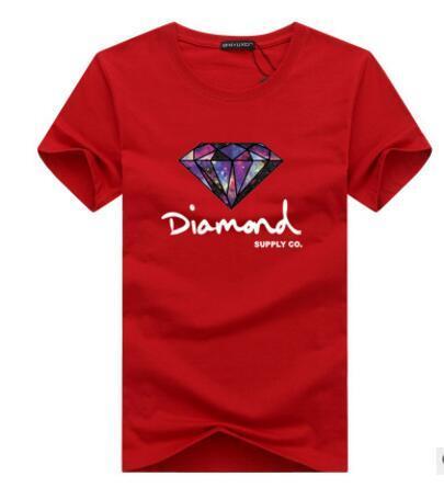 Ropa de algodón de la moda verano al por mayor hombre de las camisetas de la moda corto envuelva Impreso Diamond Supply Co Superior Masculina camisetas del patín B